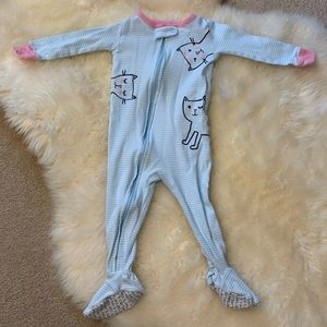 Carters pajamas with cats size 12 months